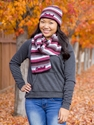 Ladies Central Knit Scarf