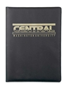 Central Black and Gold Refillable Padfolio