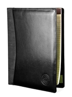 CWU Medallion Leather Portfolio Black