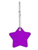 Dog Tag Star Keychain Engravable