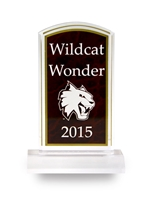 Acrylic Red Marble Image Award Engravable