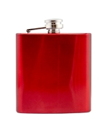 Flask Red 6oz Engravable