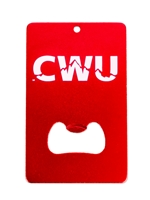 CWU Engravable Credit Card Bottle Opener Red