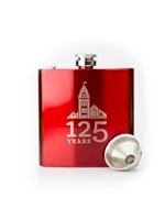 Flask W Funnel Gift set Red Engravable