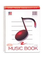 12 Stave Music Spiral Notebook