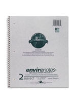 2 Subject Recycled Notebook