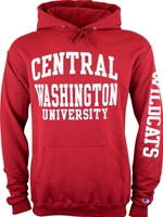 Crimson Central Washington Hooded Sweatshirt