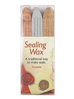 SEALING WAX GOLD, SILVER & BRONZE WITH WICK