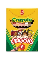 Multicultural Colored Crayons 8CT