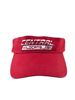 Central Wildcats Crimson Visor