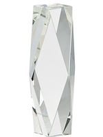 Award Crystal Facet Tower 8 Inch