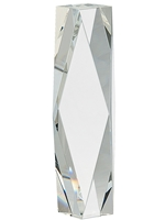 Award Crystal Facet Tower 10 Inch