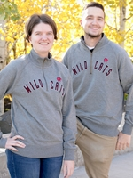 Wildcats Grey 1/4 Zip