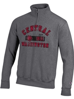 1/4 Zip Central Graphite Sweatshirt