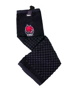 Black CWU Golf Towel