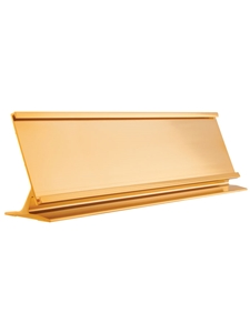 Desk Name Plate Holder & Acrylic GOLD 2x10 Engravable