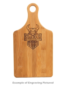 Bamboo Padle Cutting Board 13.5x7 Engravable