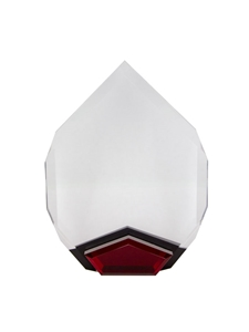 Acrylic Red Marquis Award Engravable