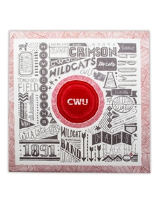 CWU Pictograph Canvas Print 12x12