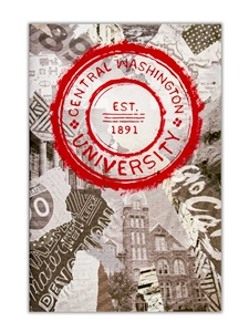 CWU Scrapbook Canvas Print 8x12