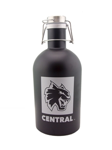CENTRAL Black Matte Growler