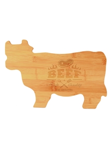 Bamboo Cutting Board Cow Engraved