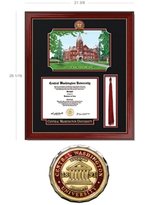 Lithograph Diploma Frame + Tassel Cherry