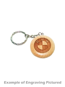 Keychain Maple Round