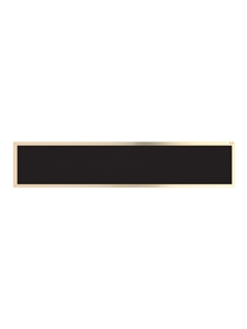 Brass Plate Black and Gold
