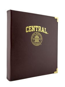 "Leather Binder 1"" Gold Seal"