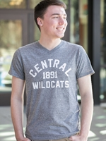 Central Mens Vneck Triblend Tee