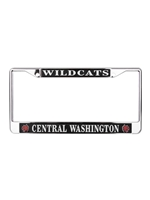 Wildcats Central Washington License Plate Frame
