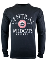 CWU Alumni Black Long Sleeve Tshirt