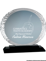 Oval Accent Glass Award 5 3/4""