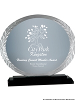 Oval Accent Glass Award 7""