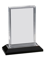 Silver Beveled Impress Award (Customizable)
