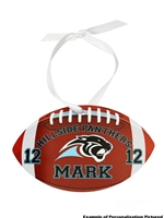 Ornament Football Shaped (Customizable)
