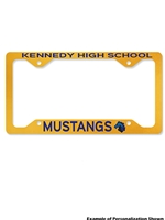 License Plate Frame (Customizable)
