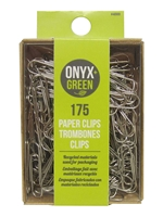 Onyx Green Paper Clips