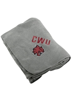 Grey CWU Cat Head Blanket