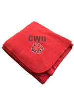 Crimson CWU Cat Head Blanket