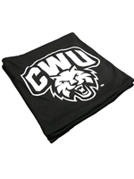 Black CWU Logo Sweatshirt Blanket