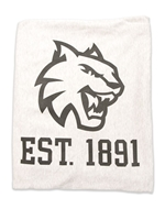 Grey CWU Logo Sweatshirt Blanket