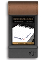 iQ Pro Index Cards Book Dotted Grid Notebook