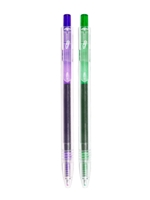 0.7mm Green and Purple Gel Pens 2pk