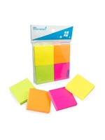 2x2 Neon Mini Sticky Notes 4 Pack