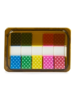 Mini Polka Dotted Sticky Page Markers