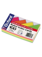 Oxford Index Cards Assorted Neon (100 Sheets)