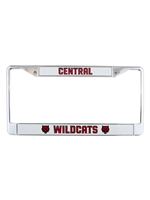 Central Wildcats License Plate Frame