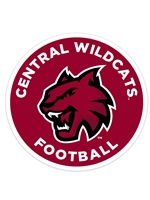 Central Wildcats Car Magnet Football